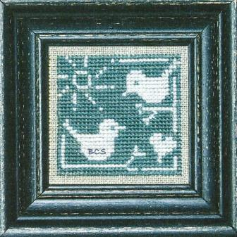 Bent Creek - Summer Blue Birds + White-Bent Creek - Summer Blue Birds + White, heart, blue bird, cross stitch chart,