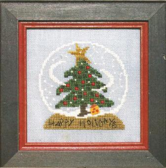 Bent Creek - Christmas Zipper - Snow Globe - Cross Stitch Kit-Bent Creek, Christmas Zipper, Snow Globe, Christmas Tree, Christmas star,snow, gifts, Cross Stitch Kit