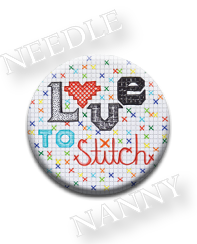 Stitch Dots - Love to Stitch Needle Nanny-Stitch Dots - Love to Stitch Needle Nanny, stitching, sewings, heart, magnet, cross stitch