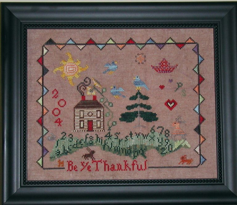 Praiseworthy Stitches - Be Ye Thankful - Cross Stitch Pattern-Praiseworthy Stitches - Be Ye Thankful - Cross Stitch Pattern