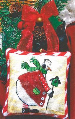 Bobbie G. Designs - Snowman's Birdhouse - Cross Stitch Pattern