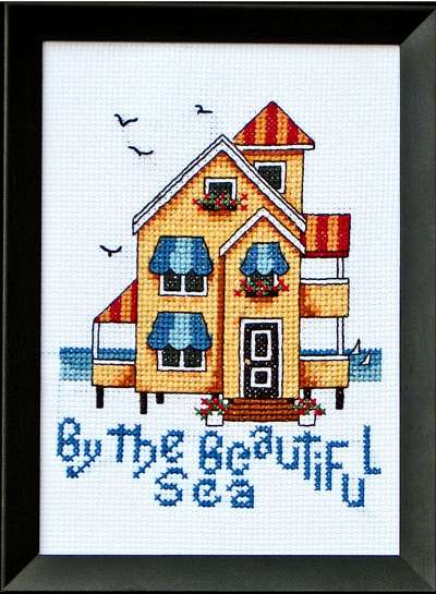 Bobbie G. Designs - By the Beautiful Sea - Cross Stitch Pattern-Bobbie G. Designs - By the Beautiful Sea - Cross Stitch Pattern