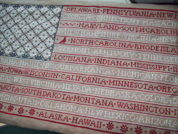 ByGone Stitches - One Nation-ByGone,Stitches,One,Nation, Cross,Stitch, Chart, American, Flag, Patriotic,states,red, white, blue,
