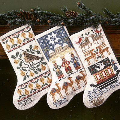 Prairie Schooler - Christmas Collection-Prairie Schooler - Christmas Collection, stockings, decorations, ornaments, cross stitch