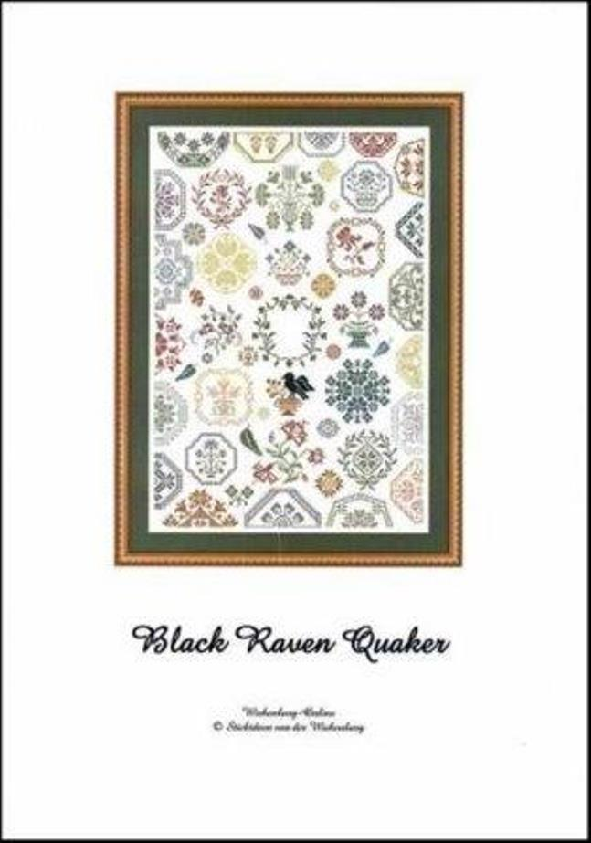 Stickideen von der Wiehenburg - Black Raven Quaker-Stickideen von der Wiehenburg - Black Raven Quaker, motifs, birds, cross stitch, European sampler,