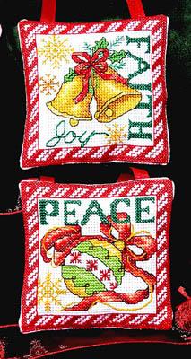 Bobbie G. Designs - Faith, Peace Ornaments - Cross Stitch Charts
