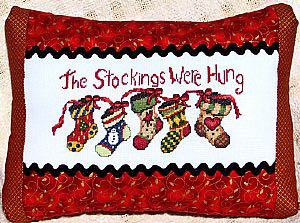 Bobbie G. Designs - The Stockings Were Hung  Cross Stitch Pattern
