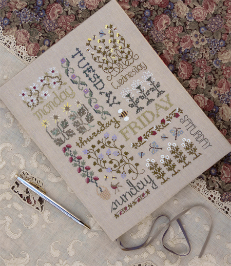 The Drawn Thread - Book of Days - Cross Stitch Pattern