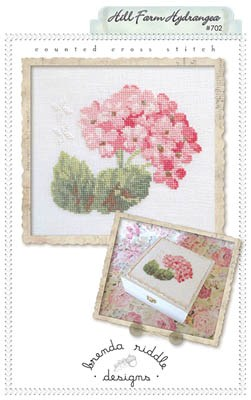 Brenda Riddle Designs - Hill Farm Hydrangea - Cross Stitch Pattern-Brenda Riddle Designs, Hill Farm Hydrangea, flowers, summer, keepsake box, Cross Stitch Pattern