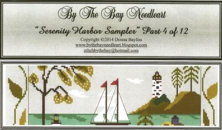 By The Bay Needleart - Serenity Harbor Sampler Series - Part 4 - Cross Stitch Pattern-By The Bay Needleart - Serenity Harbor Sampler Series - Part 4 - Cross Stitch Pattern