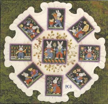 Prairie Schooler - Bunnies-Prairie Schooler - Bunnies - Cross Stitch Pattern