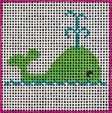 DeElda Needlepoint - Whale Beginner Needlepoint Kit-DeElda Needlepoint - Whale Beginner Needlepoint Kit, easy, crafts, kids,