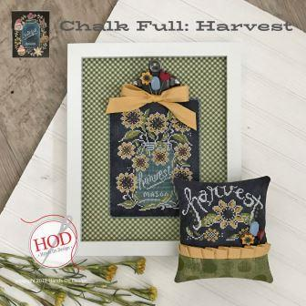 Hands On Design - Chalk Full - Harvest-Hands On Design - Chalk Full - Harvest, mason jar, country, farm, cross stitch, flowers