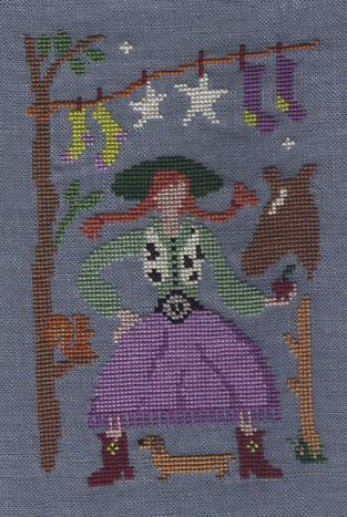 Ink Circles - Calamity Pippi-Ink Circles - Calamity Pippi, Cross Stitch Pattern, western, cowgirl, horse,
