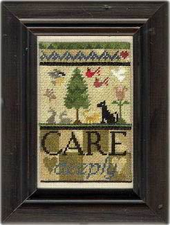 Erica Michaels Needleart Designs - Care Deeply - Cross Stitch Pattern