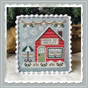 Country Cottage Needleworks - Snow Village 05 - Frozen Hot Chocolate Shop-Country Cottage Needleworks - Snow Village 5 - Frozen Hot Chocolate Shop