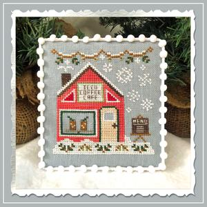 Country Cottage Needleworks - Snow Village 10 - Iced Coffee Cafe-Country Cottage Needleworks - Snow Village 10 - Iced Coffee Cafe