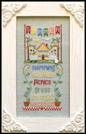 Country Cottage Needleworks - Seasonal Celebrations - Part 2 - Summer-Country Cottage Needleworks - Seasonal Celebrations - Part 2 of 4 - Summer, cross stitch pattern,
