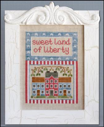 Country Cottage Needleworks - Land of Liberty-Country Cottage Needleworks, Land of Liberty, USA, America, 4th of July, houses, home, family, country, patriotic, Cross Stitch Chart
