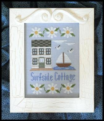 Country Cottage Needleworks - Surfside Cottage - Cross Stitch Pattern-Country Cottage Needleworks, Surfside Cottage, beach house, surfing, Cross Stitch Pattern