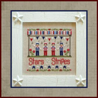 Country Cottage Needleworks - Stars & Stripes - Cross Stitch Pattern-Country Cottage Needleworks, Stars  Stripes, patriotic, 4th of July, Americana, country spirit, Cross Stitch Pattern