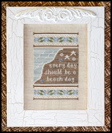 Country Cottage Needleworks - Beach Day-Country Cottage Needleworks - Beach Day, ocean, sand, surf, sunshine, playing, waves, sea shells. cross stitch