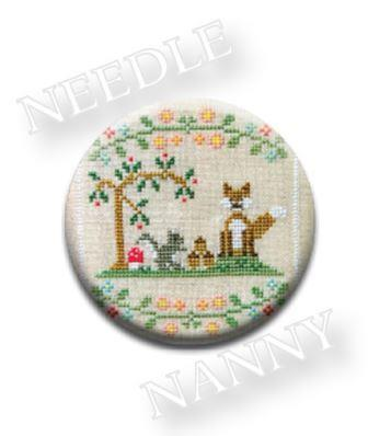 Stitch Dots - Forest Fox and Friends Needle Nanny by Country Cottage Needleworks-Forest Fox and Friends Needle Nanny by Country Cottage Needleworks, forest, animals, magnets, cross stitch, needles,
