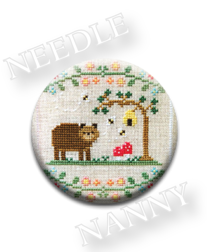Stitch Dots - Forest Bear Needle Nanny by Country Cottage Needleworks-Stitch Dots - Forest Bear Needle Nanny by Country Cottage Needleworks, forest, animals, cross stitch