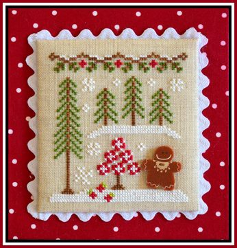 Country Cottage Needleworks - Gingerbread Village - Part 02 - Gingerbread Girl and Peppermint Tree
