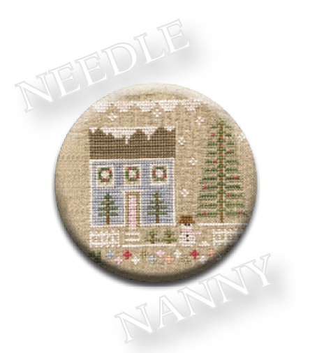 Stitch Dots - Glitter House 1 Needle Nanny by Country Cottage Needleworks-Stitch Dots - Glitter House 1 Needle Nanny by Country Cottage Needleworks