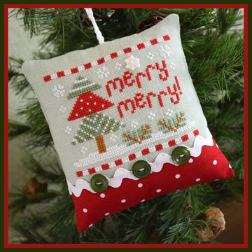 Country Cottage Needleworks - Classic Collection - 10 - Merry Merry-Country Cottage Needleworks - Classic Collection, Merry Merry,  Christmas decoration, ornament. Christmas tree,
