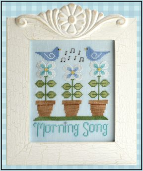Country Cottage Needleworks - Morning Song-Country Cottage Needleworks, Morning Song, blue bird, bird song, flowers, Cross Stitch Pattern