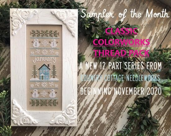 Country Cottage Needleworks - Sampler of the Month - Thread Pack-Country Cottage Needleworks - Sampler of the Month - Thread Pack