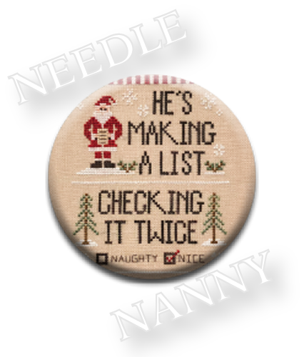 Stitch Dots - Country Cottage Needleworks - Santa's List Needle Nanny-Stitch Dots - Santas List Needle Nanny by Country Cottage Needleworks, Christmas,