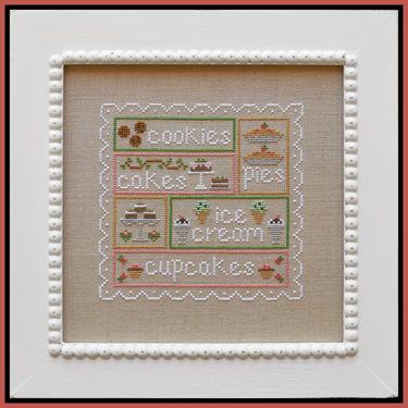 Country Cottage Needleworks - Sweet Sampler-Country Cottage Needleworks - Sweet Sampler, desserts, goodies,
