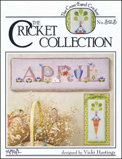 Cross-Eyed Cricket - April-Cross-Eyed Cricket, April, Spring, Easter, carrots, bunnies, flowers, Cross Stitch Pattern