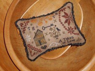 Chessie & Me - Quaker House Token Kit-Chessie  Me - Quaker House Token, quaker, cross stitch, primitive,