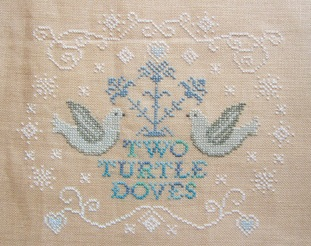 Cottage Garden Samplings - 12 Days of Christmas - #02 - Two Turtle Doves