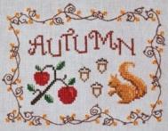 Cottage Garden Samplings - Autumn - Cross Stitch Pattern