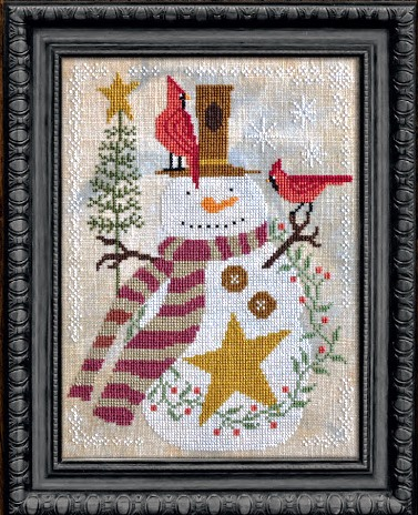 Cottage Garden Samplings - A Time For All Seasons Part 1 - It's Snow Time-Cottage Garden Samplings - A Time For All Seasons Part 1 - Its Snow Time, snowman, winter, cardinal, holly, Christmas tree, cross stitch