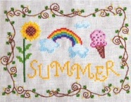 Cottage Garden Samplings - Summer - Cross Stitch Pattern