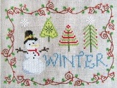 Cottage Garden Samplings - Winter - Cross Stitch Pattern