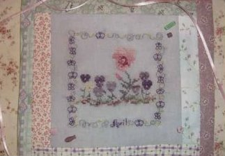 Country Garden Stitchery - Country Garden in April - Cross Stitch Pattern-Country Garden Stitchery, Country Garden in April,  Cross Stitch Pattern
