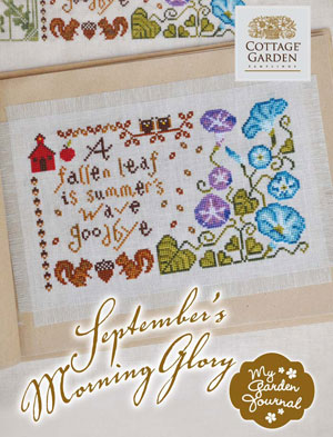 Cottage Garden Samplings - My Garden Journal - Part 09 of 12 - September's Morning Glory - Cross Stitch Pattern
