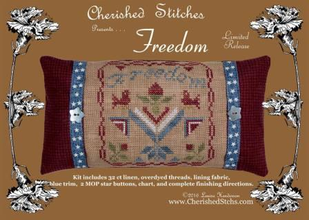 Cherished Stitches - Freedom - Limited Edition Kit-Cherished Stitches - Freedom, patriotic, usa, american, cross stitch