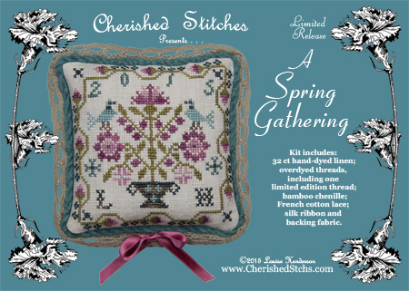 Cherished Stitches - A Spring Gathering - 2015 Nashville Limited Edition Kit-Cherished Stitches, A Spring Gathering - 2015 Nashville Limited Edition Kit
