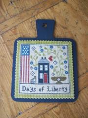 Kelmscott Designs - Hornbook for Chessie & Me - Days of Liberty Chart-Kelmscott Designs, Hornbook for Chessie  Me, Days of Liberty Chart, USA, wood hornbook,
