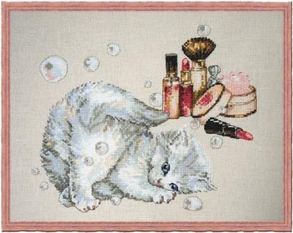 Nimue - Chavonette-Nimue -Chavonette , kitty, pretty cat, fluffy, cross stitch