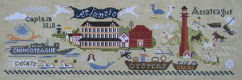 Carriage House Samplings - Chincoteague - Cross Stitch Chart-Carriage House Samplings - Chincoteague - Cross Stitch Chart