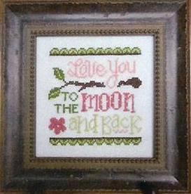 Cherry Hill Stitchery - Love You To The Moon-Cherry Hill Stitchery, Love You to the Moon, romance, love, Cross Stitch Pattern